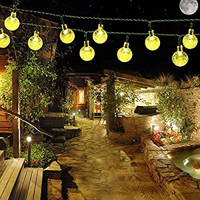 Solar outdoor string lights globe warm white only 599 aloadofball Images